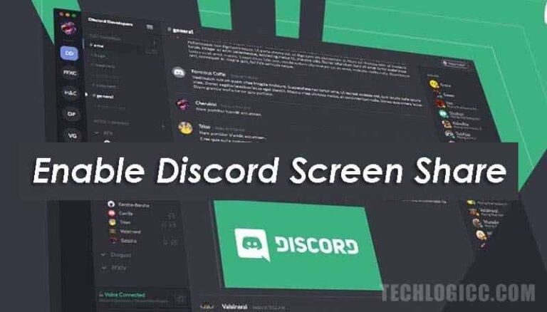 discord screen share in server