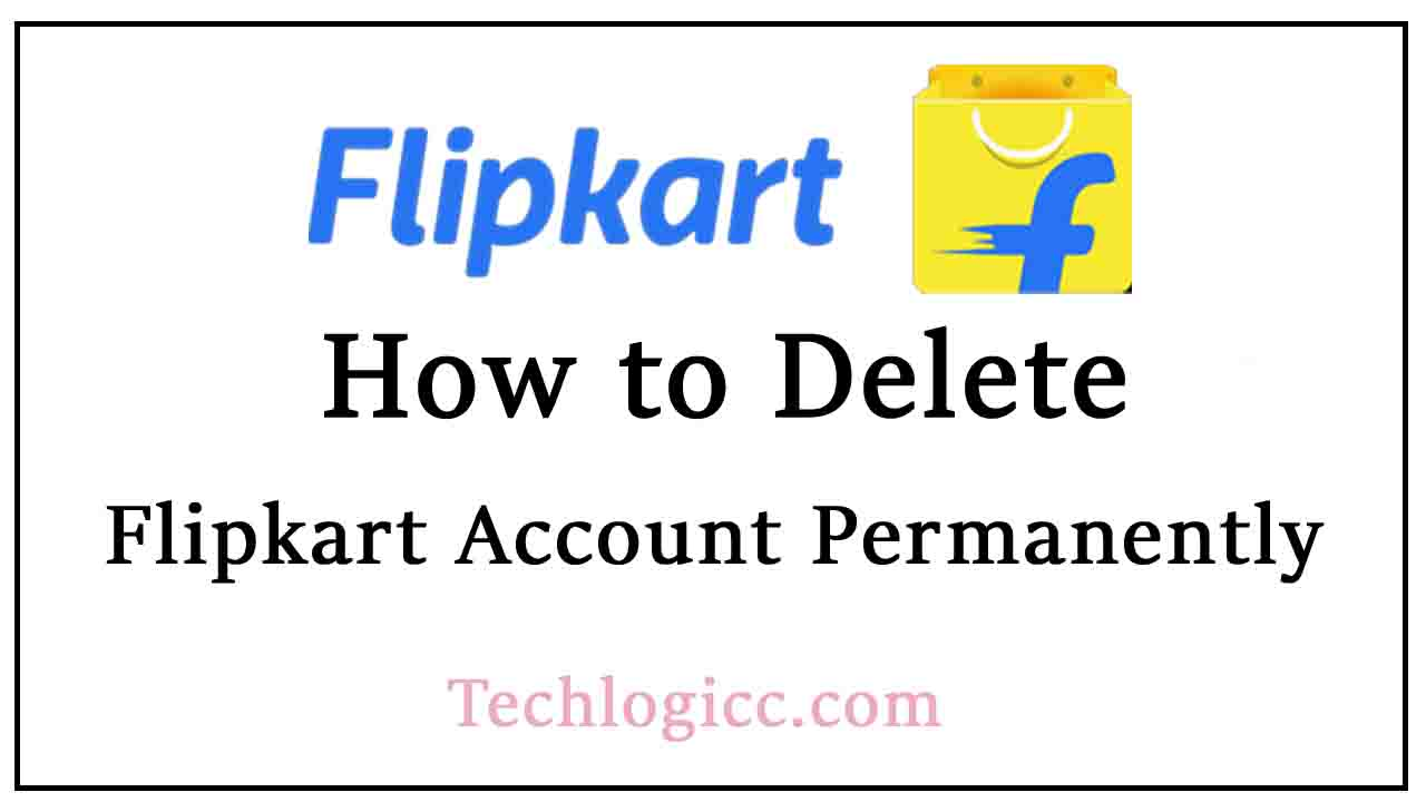 how to delete flipkart account