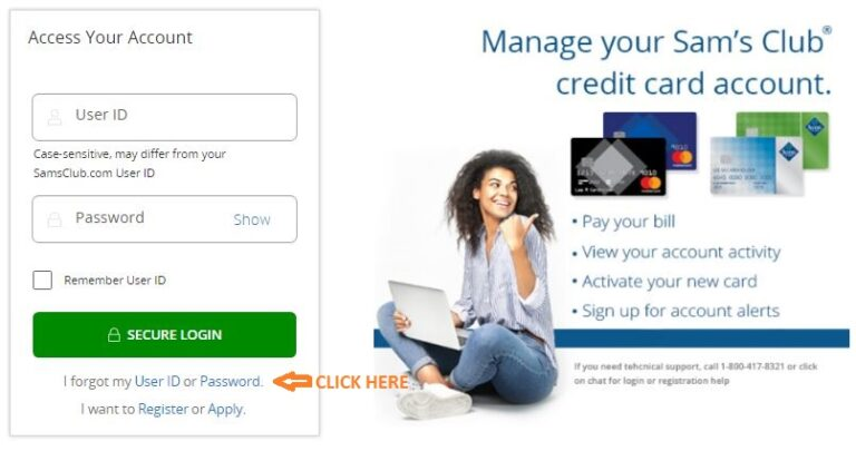 Sams Credit Card Login